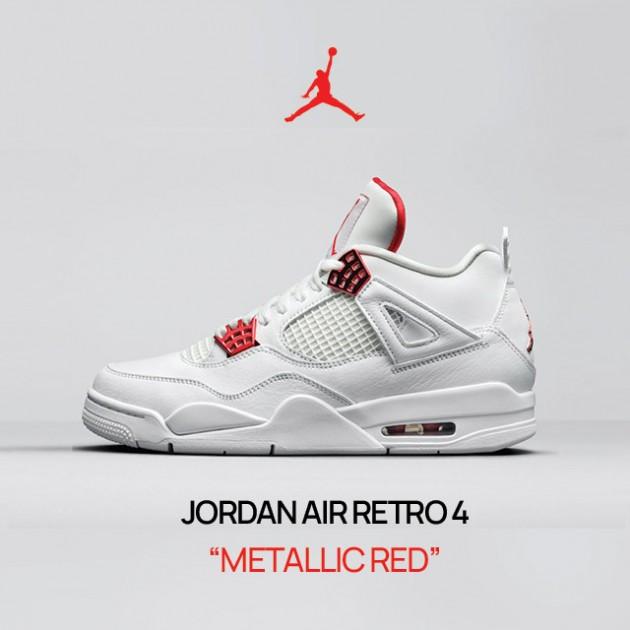 "AIR JORDAN IV RETRO ""METALLIC RED"" LANDED @SNEAKER CAGE!"