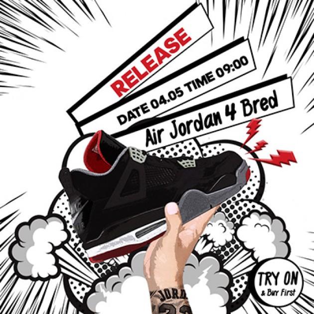 Air Jordan 4 Bred Release | Sneaker Cage Χαλάνδρι