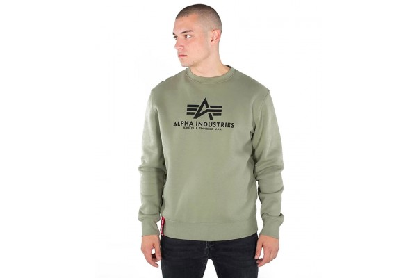 ALPHA INDUSTRIES BASIC SWEATER 178302-11 OLIVE