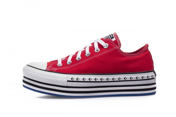 Converse LOGO PLAY PLATFORM CHUCK TAYLOR ALL STAR 566763C Red
