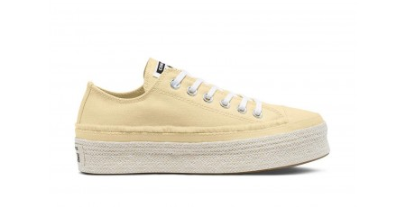 CONVERSE CHUCK TAYLOR ALL STAR TRAIL TO COVE ESPADRILLE LOW TOP 570772C Ecru