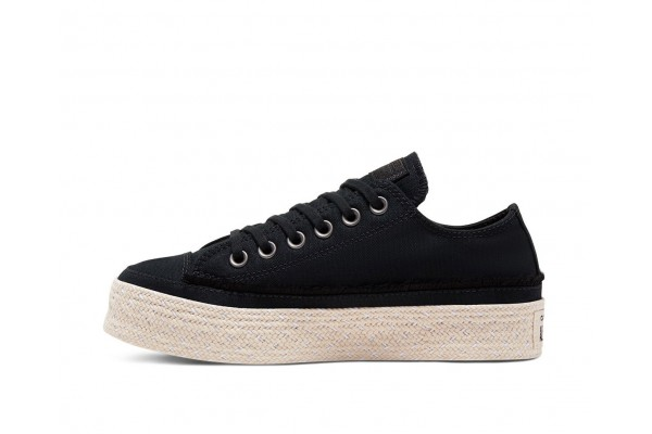 CONVERSE CHUCK TAYLOR ALL STAR TRAIL TO COVE ESPADRILLE LOW TOP 567685C Black