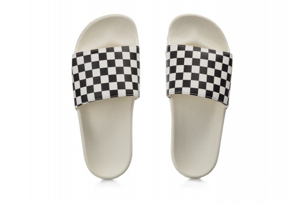 VANS WM SLIDE-ON V4LG27K-27K Λευκό-Μαυρο