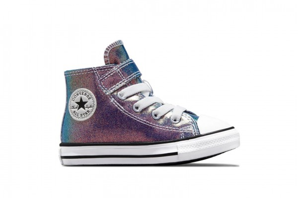 CONVERSE CHUCK TAYLOR ALL STAR IRIDESCENT GLITTER EASY-ON 771589C Colorful