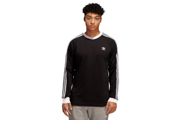 adidas Originals 3-STRIPES LS T DV1560 Μαύρο
