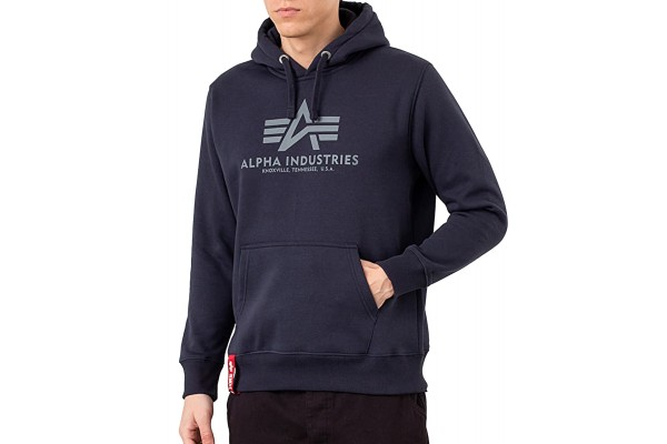 ALPHA INDUSTRIES BASIC HOODIE 178312-07 Μπλε