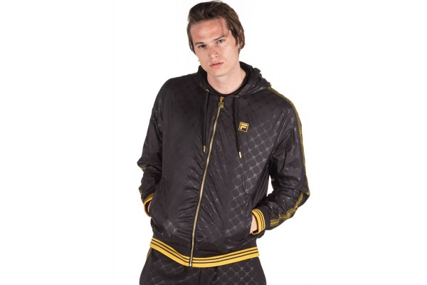 FILA DUBLIN HOODED WINDJACKET LM015773-001 Μαύρο