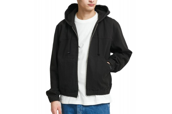STUSSY SOLID WORK JACKET 115567-BLACK Μαύρο