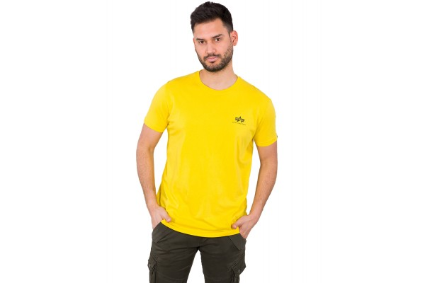 ALPHA INDUSTRIES BASIC T SMALL LOGO 188505-465 Κίτρινο