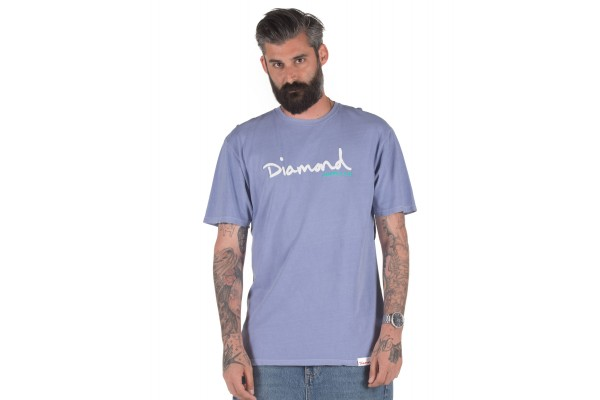 DIAMOND SUPPLY OG SCRIPT OVERDYED DIAA20DMPA020-BLUE Blue