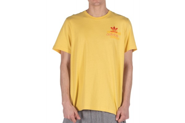 adidas Originals SHATTERED EMBROIDERED TEE FM3340 Κίτρινο
