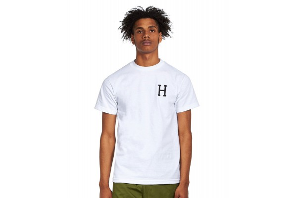 HUF ESSENTIALS CLASSIC H S/S TEE TS01048-WHITE Λευκό