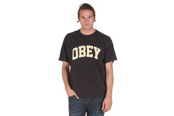 OBEY ACADEMIC 166912066-OFF BLACK Μαύρο