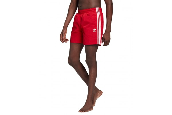 adidas Originals ADICOLOR CLASSICS 3-STRIPES SWIM SHORTS GN3526 Κόκκινο
