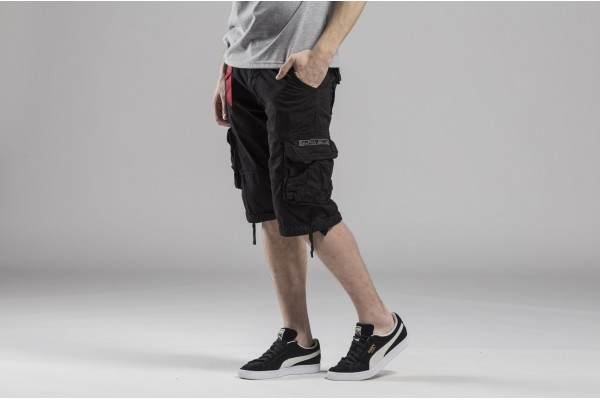 ALPHA INDUSTRIES JET SHORT 191200-03 Μαύ