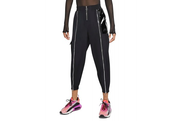 NIKE SPORTSWEAR ICON CLASH WOMEN'S WOVEN PANTS CU6925-010 Μαύρο