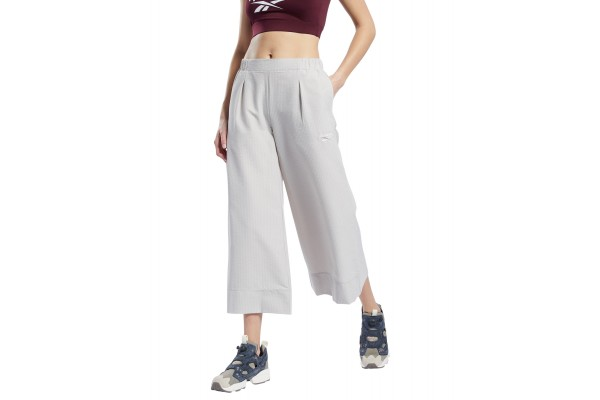 Reebok Classics CL TS CROPPED WIDE PANTS GP2142 Εκρού