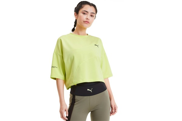 PUMA EVIDE FORM STRIPE CROP TEE 596298-31 Κίτρινο