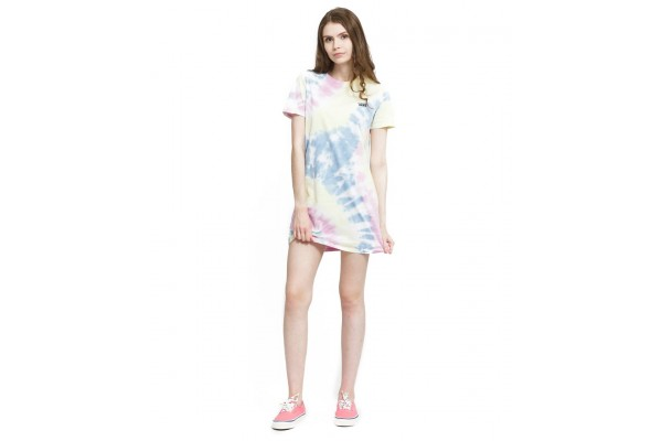 VANS WM SPIRALING TEE DRESS VA5DN50FS-0FS Λιλά