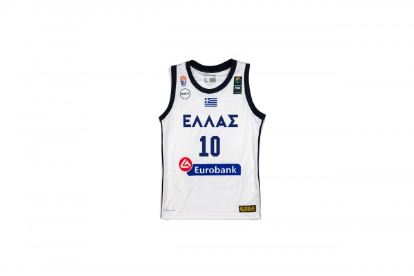 GSA GAME SHIRT OFFICIAL UNIFORM KID-10 SLOUKAS 17-93065-WHITE Λευκό