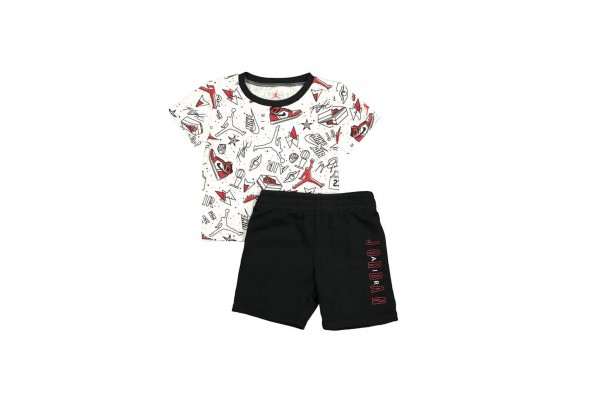 JORDAN JDB FUN FLIGHT TEE & SHORT SET 65A398-023 Πολύχρωμο