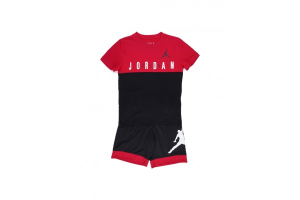 JORDAN JDB BIG BLOCK TEE & SHORT SET 65A396-023 Πολύχρωμο