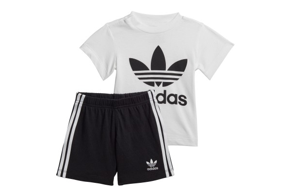 adidas Originals TREFOIL SHORTS TEE SET FI8318 Λευκό-Μαυρο