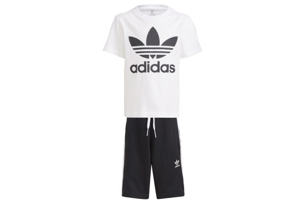 adidas Originals ADICOLOR SHORTS & TEE SET GP0194 Λευκό-Μαυρο