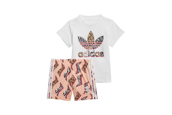 adidas Originals GRAPHIC PRINT SHORTS & TEE SET GN2228 Πολύχρωμο