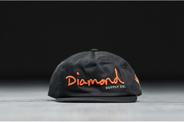 DIAMOND SUPPLY OG SCRIPT SP19 SNAPBACK DIAMA19DMHA001-BLK Black