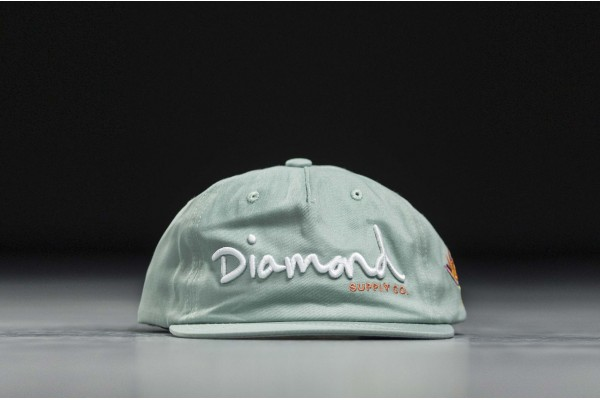 DIAMOND SUPPLY OG SCRIPT SP19 SNAPBACK DIAMA19DMHA001-GRN Green