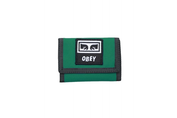 OBEY TAKEOVER TRI FOLD WALLET 100010122-GREEN Πράσινο