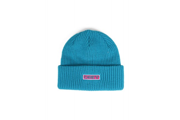 OBEY MOVEMENT BEANIE 100030147-TEAL Τιρκουάζ
