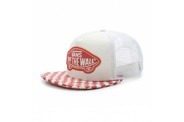 VANS BEACH GIRL TRUCKER HAT V00H5LP39-P39 Λευκό