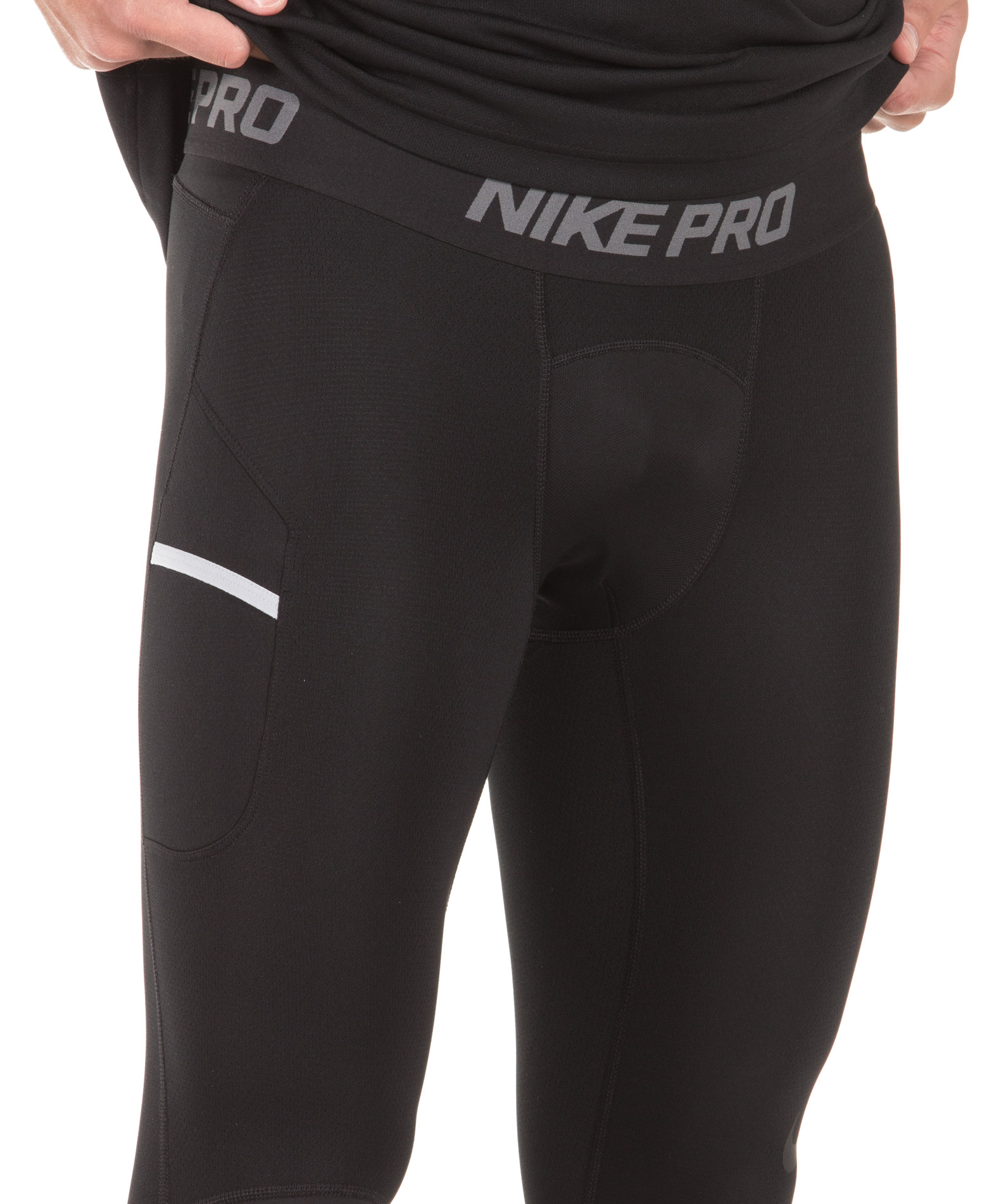 NIKE M NP DRY TIGHT 3QY BBALL 925821-010 Μαύρο