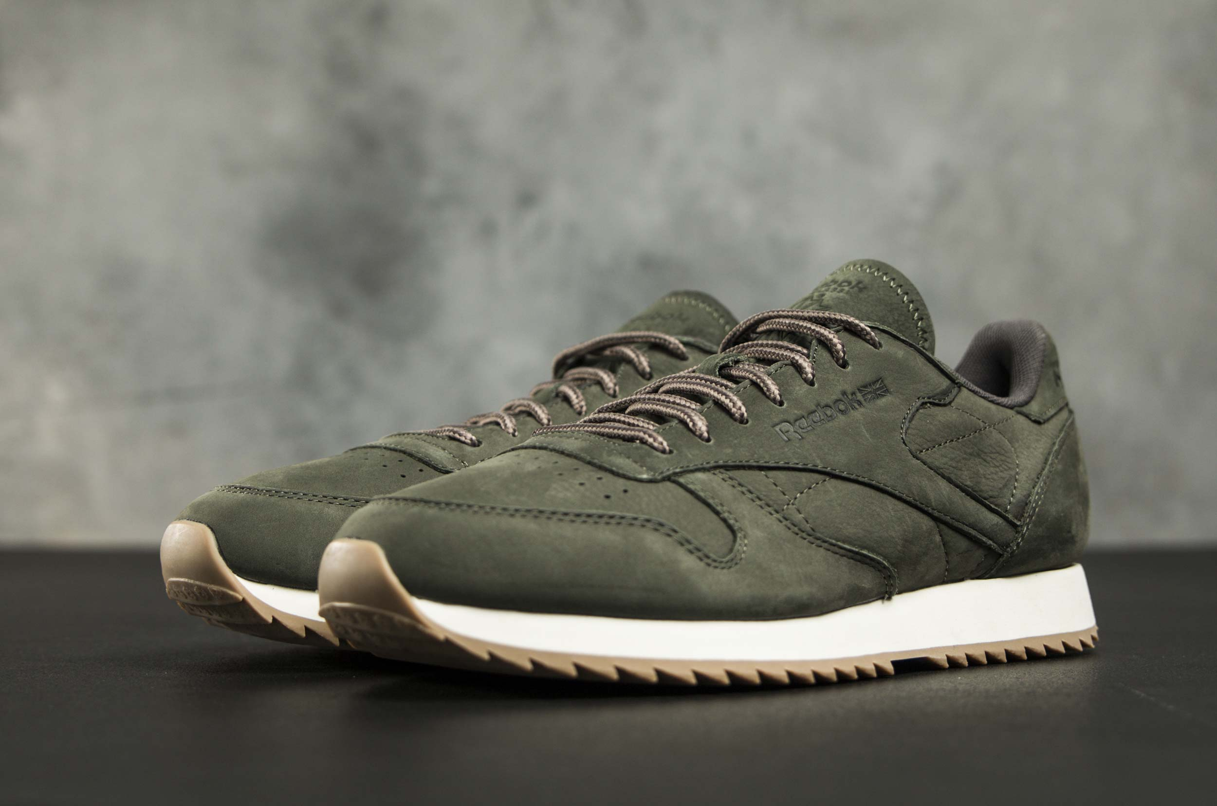 753395729bee4 ... Reebok Classics CL LEATHER RIPPLE WP 10 BS7852 Χακί ...