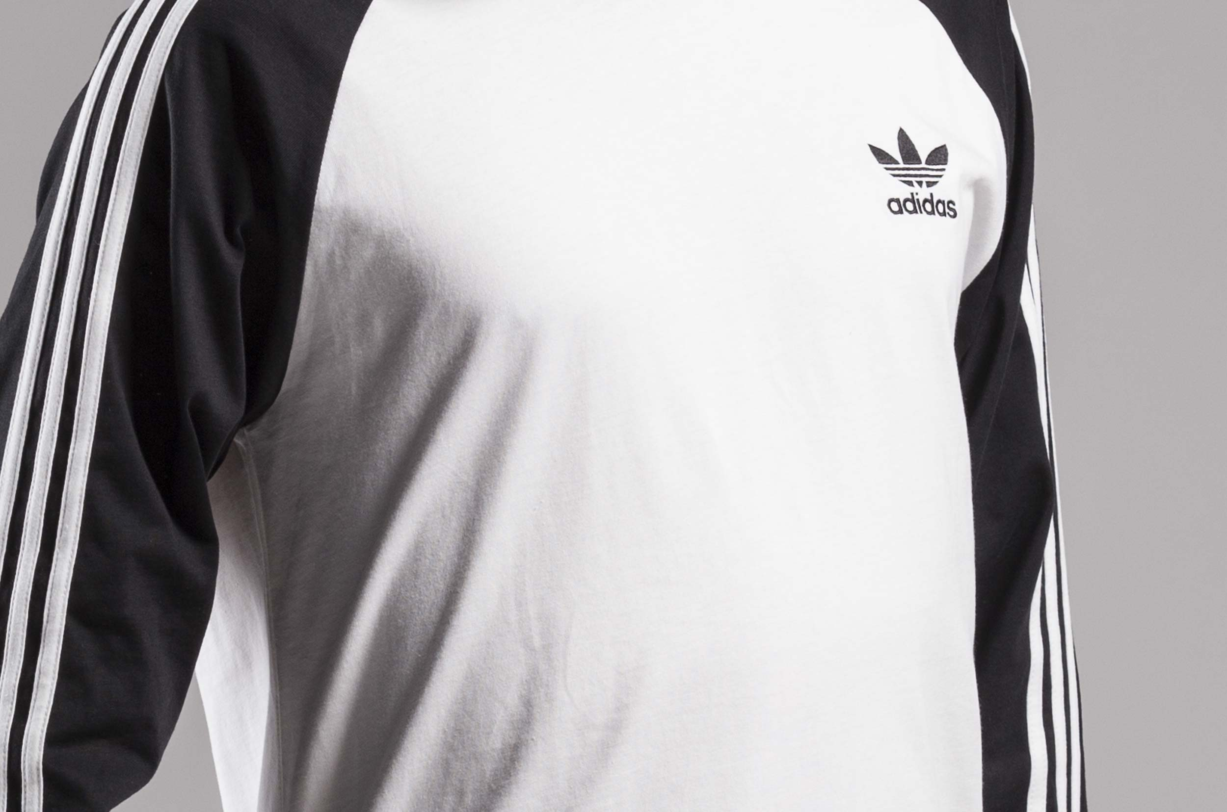 ... adidas Originals 3-STRIPES LS T DH5793 Λευκό-Μαυρο ... cea23478a00