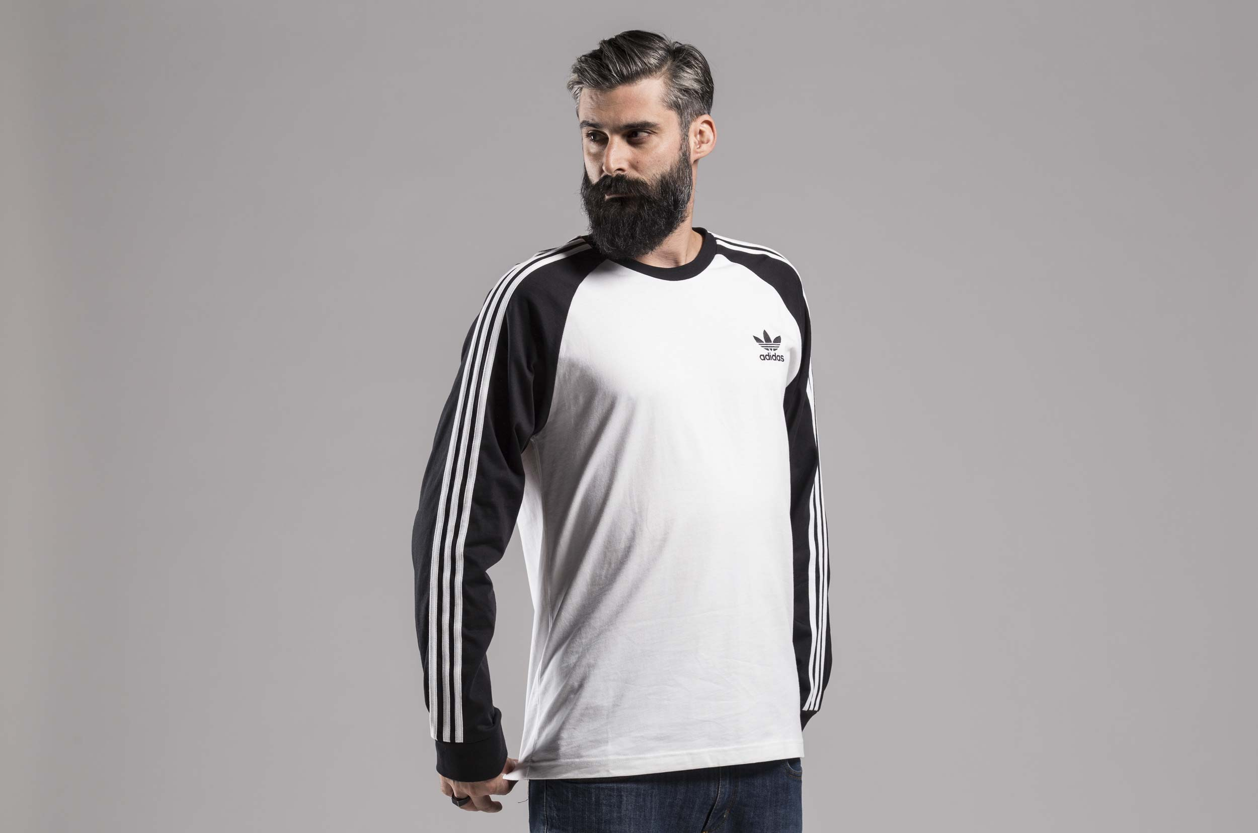 adidas Originals 3-STRIPES LS T DH5793 Λευκό-Μαυρο ... 6b3db4dbab2
