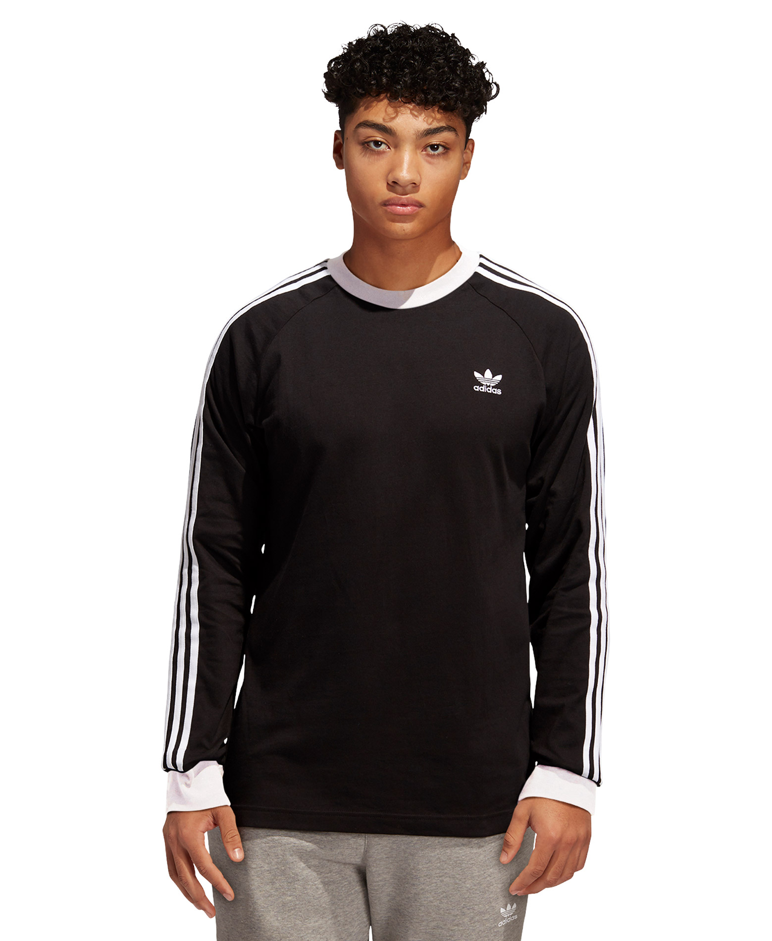adidas Originals 3-STRIPES LS T DV1560 Μαύρο ... 7f8030a3870