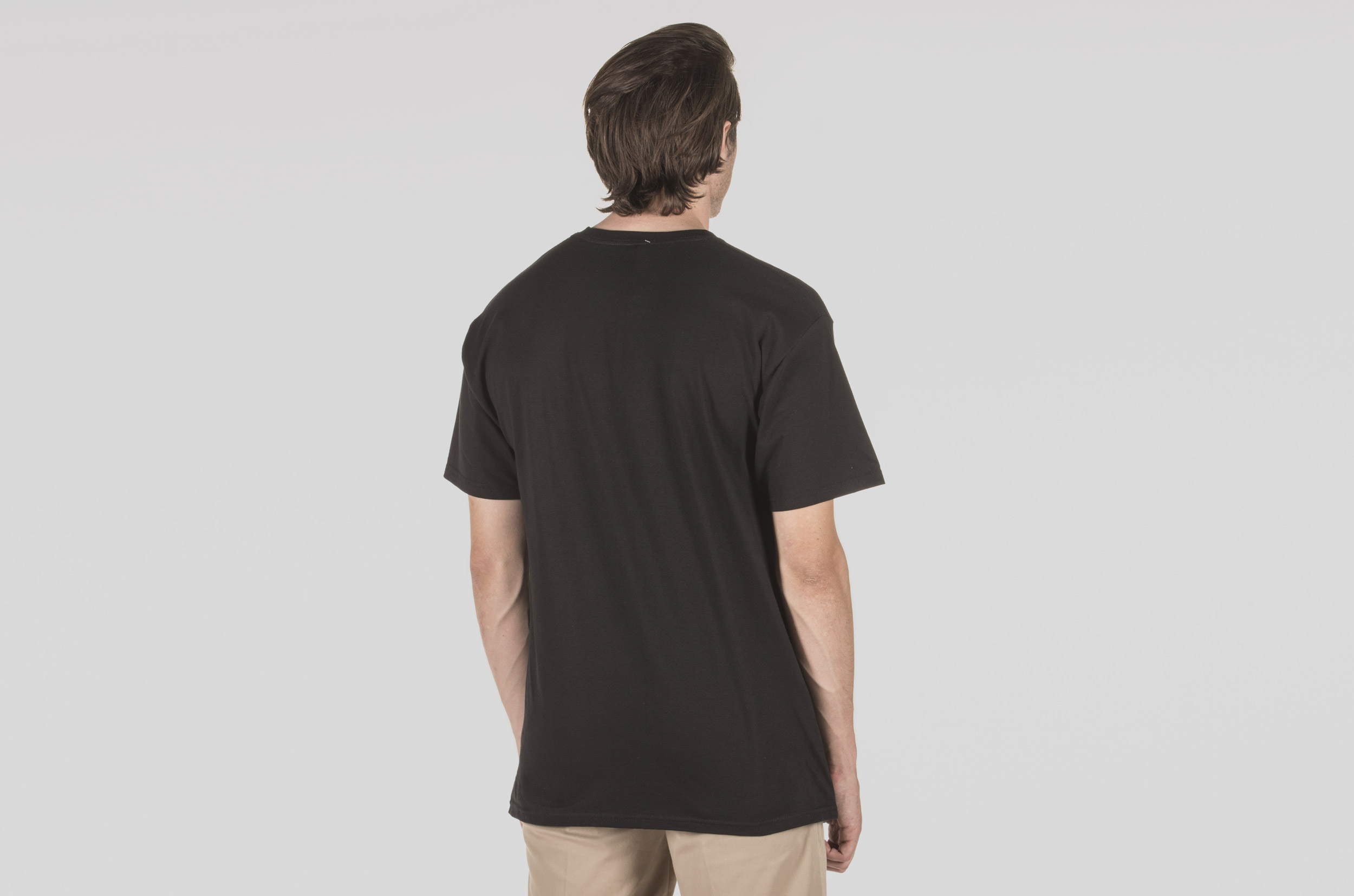 HUF HIGHLINE BOX LOGO S/S TEE TS00582-BLACK Μαύρο
