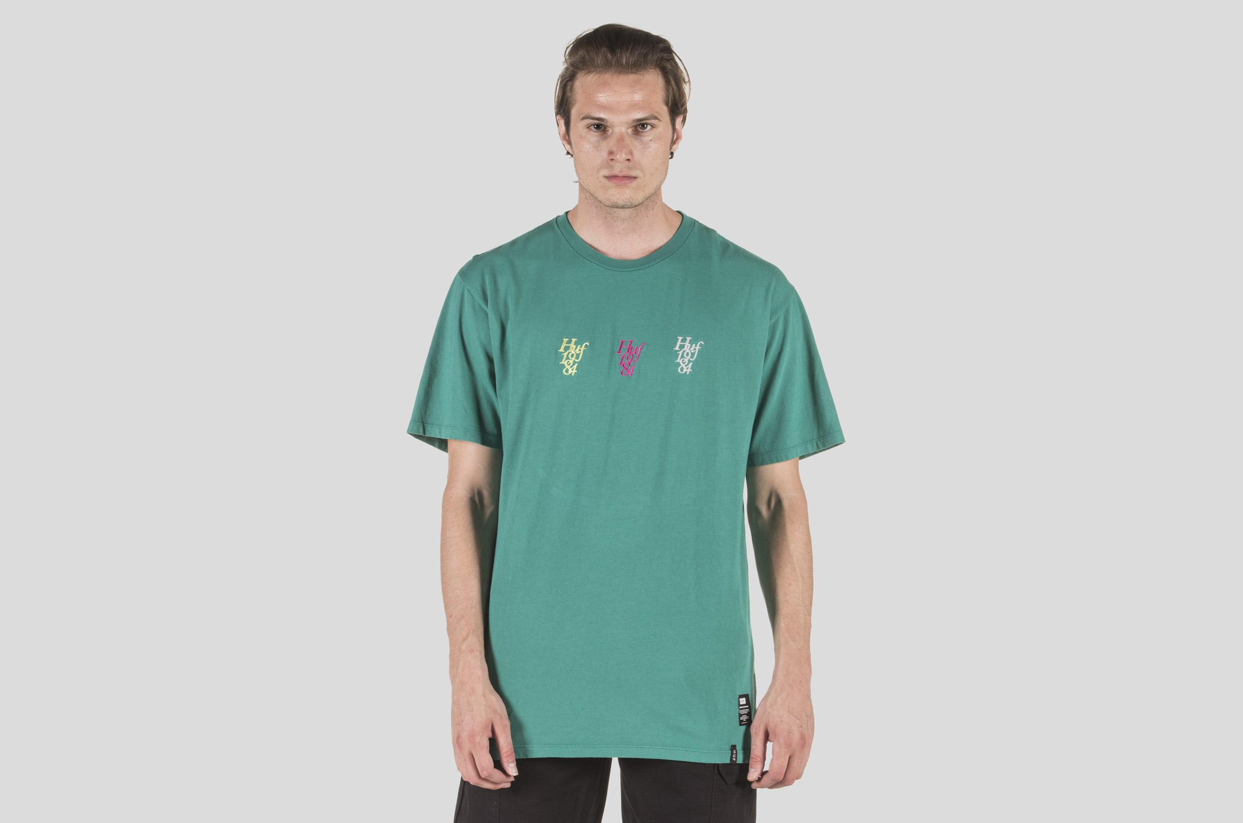 HUF CANAL ST 1984 S/S TEE TS00569-JUNGLE Τιρκουάζ