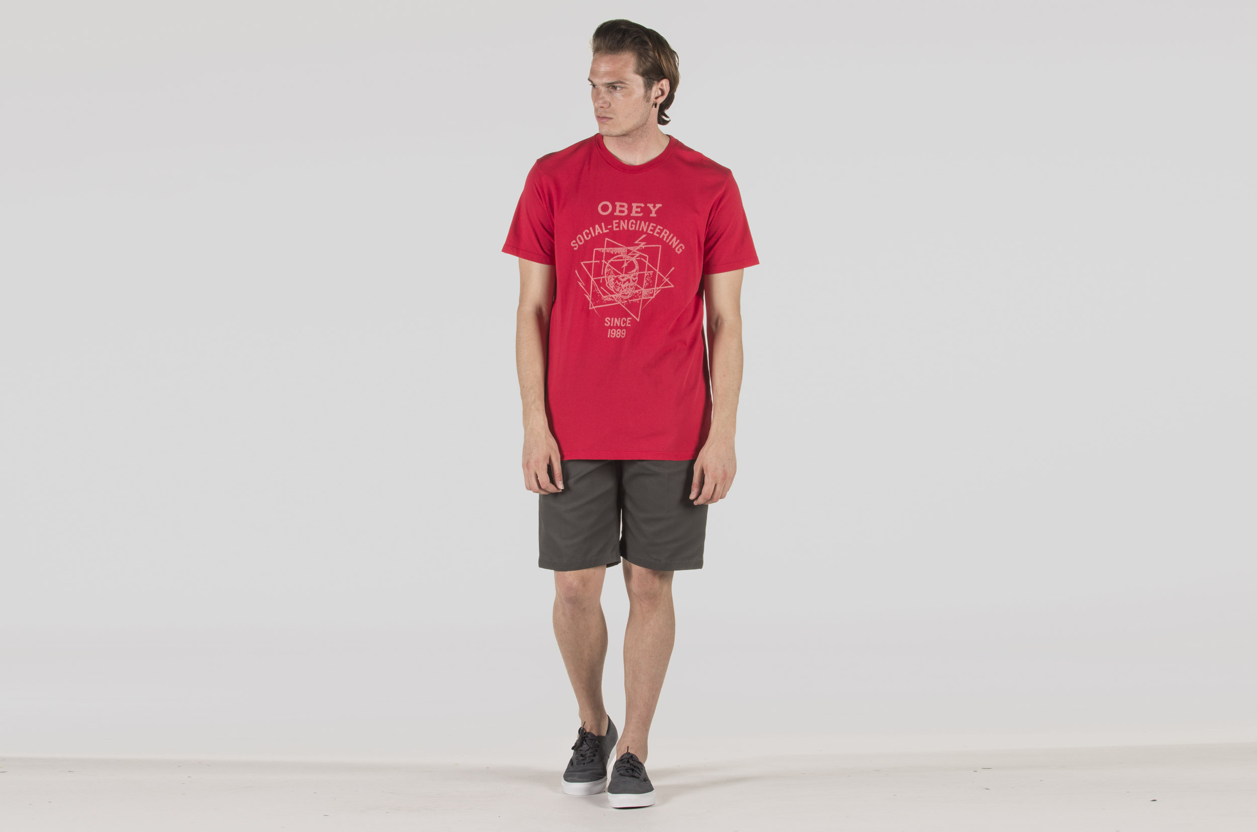 OBEY MIND CONTROL SUPERIOR TEE 221190008-RIOT RED Κόκκινο