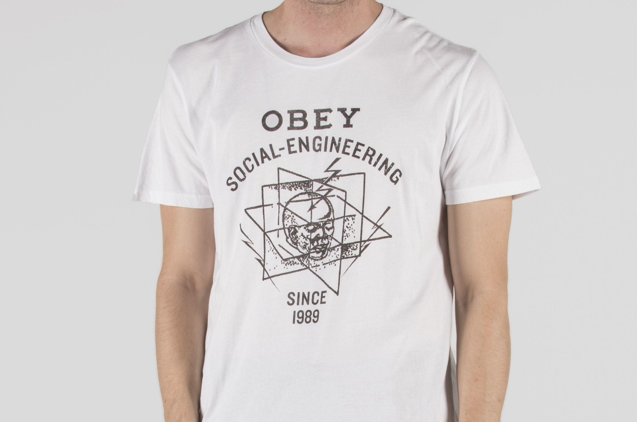 OBEY MIND CONTROL SUPERIOR TEE 221190008-WHITE Λευκό