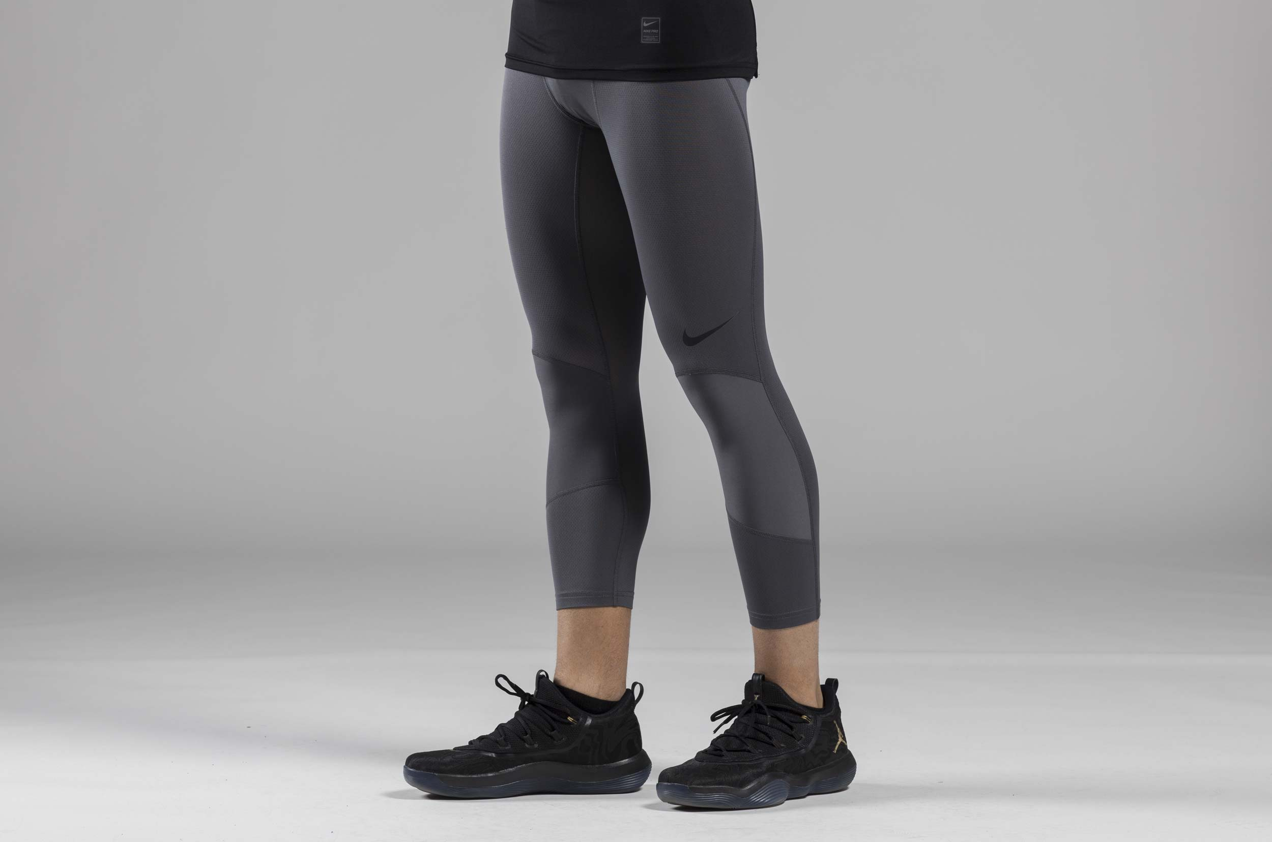 NIKE M NP DRY TIGHT 3QY BBALL 925821-021 Ανθρακί