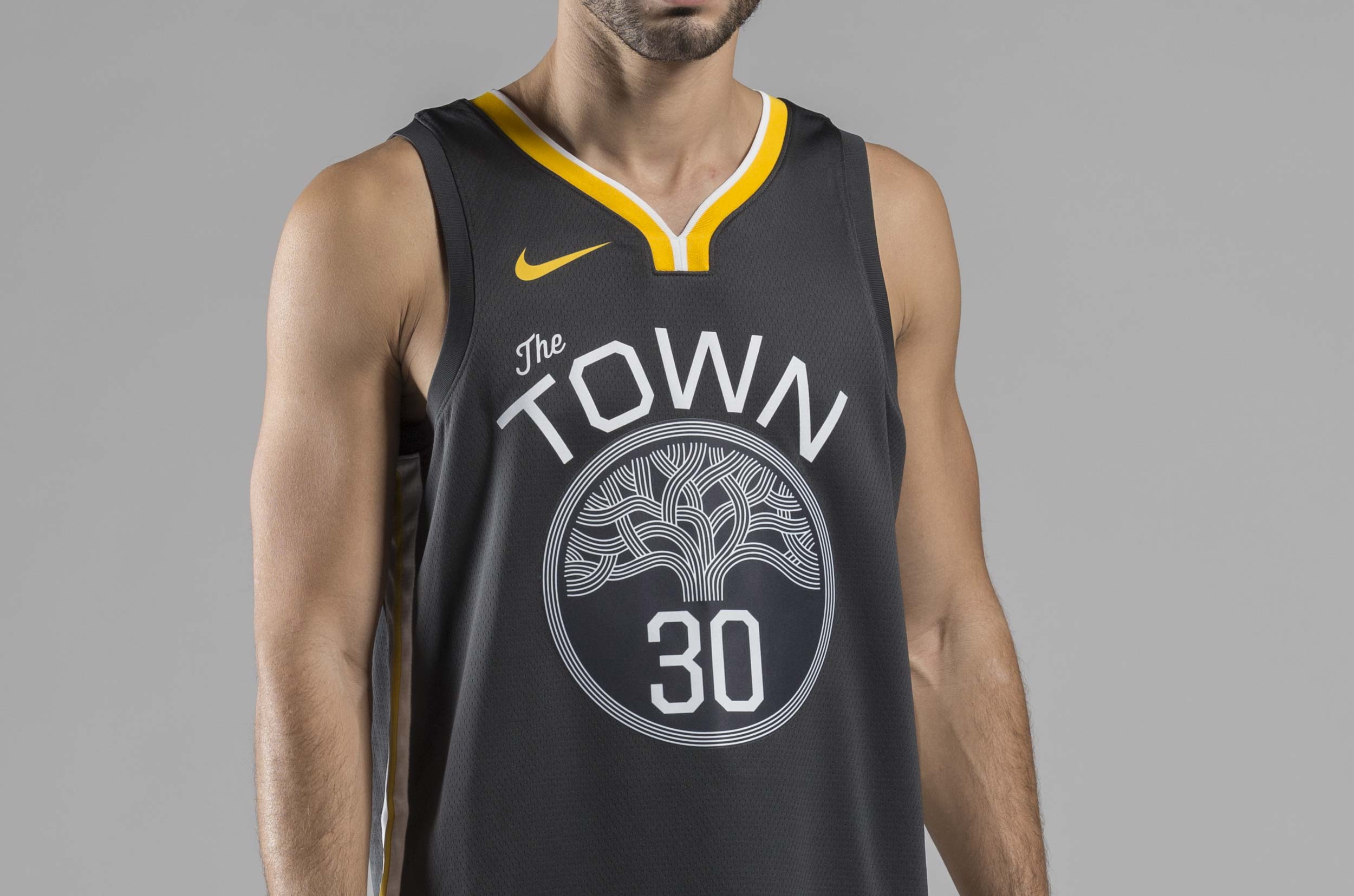 NIKE STATEMENT EDITION SWINGMAN JERSEY GOLDEN STATE WARRIORS 877205-060 Ανθρακί